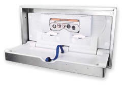 100-SSC-R Recessed Stainless Clad Changing Station